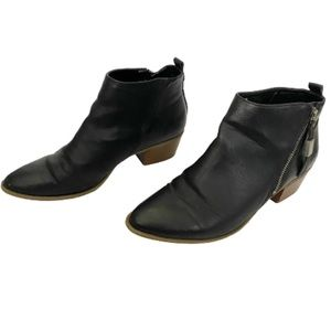 Sam Edelman Circus Black Zipper Side Ankle Booties